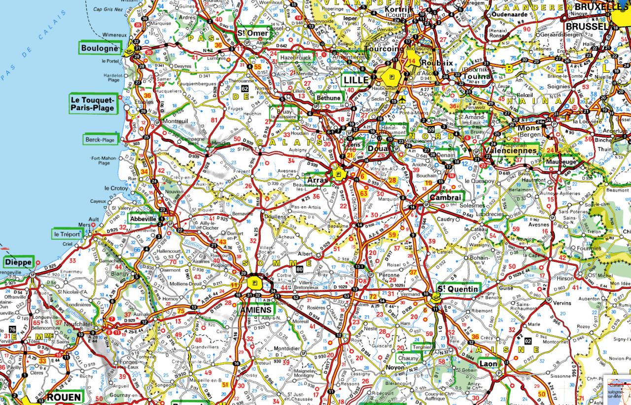Carte du Nord de la France