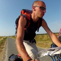 Rencontre avec un cyclotouriste en baie de somme