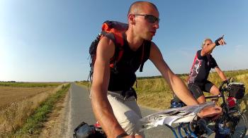 Rencontre avec un cyclotouriste